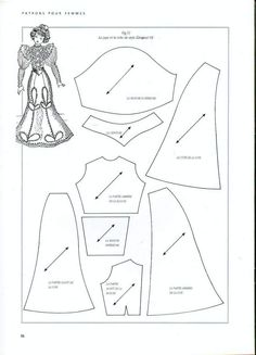 Foro de casas de muñecas y miniaturas :: Ver tema - Patrones de vestidos. Patterns for dolls -- good reference!