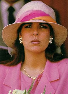 May 31, 1987 - Princess Caroline, pregnant with Pierre, at the Monaco GP