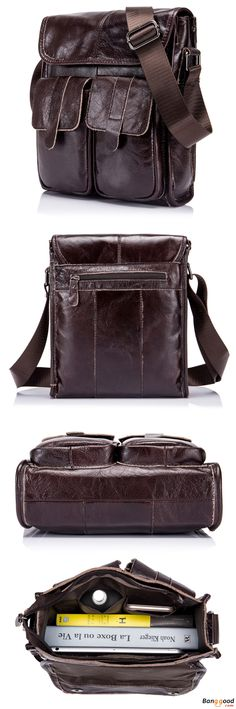 US$48.35 + Free shipping. Genuine Leather Bags, Men Bags, Vintage Bag, Retro Bag, Messenger Bag. Color: Coffee,Brown,Black.Material: Genuine Leather. Best Gift For Him.