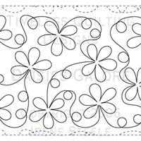 All over daisy pantograph quilt pattern