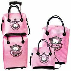 Hello Kitty Luggage Bag I want this! Sanrio Hello Kitty, Hello Kitty Haus, Hello Kitty Purse, Hello Kitty Jewelry, Hello Kitty Accessories, Hello Kitty Items, Hello Hello, Trolley Case, Hello Kitty Pictures