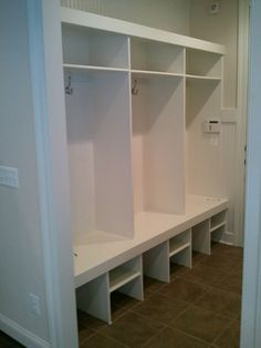 Cheshire Model - Organizing made easy in the mud room. Cubbies, Organization, Shoe Cubby, Luxury, House, Luxury Living, Home Decor, Room, Mudroom