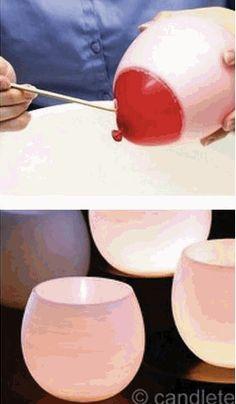 Initiales GG ... : DIY: un photophore avec un ballon!