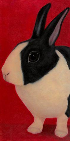 Rabbit Print - Bunny Art