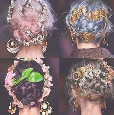 Dolce and Gabbana 2014 hair