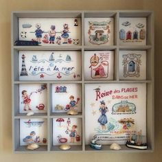 Printer Tray, Print Box, Cross Stitch Finishing, Le Point, Cubbies, Beach Themes, Shadow Box, Quilling, Needlepoint