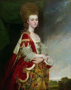 "George Romney  ""Lady Boston, nee Christian Methuen"" 1770s"