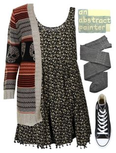 """""""Inspired by Violet Harmon"""" by tarynasaurus ❤ liked on Polyvore featuring NOVA, Trasparenze and Converse"""