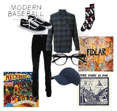 """""""I Would Literally Die For Pop-Punk"""" by ritatheprepper on Polyvore featuring AMIRI, Vans, R13, EyeBuyDirect.com, J.Crew, men's fashion and menswear"""