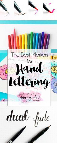 Os melhores marcadores para letras de mão |  Dawnnicoledesigns.com