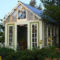 My husband and I built this greenhouse using our collection of old win… :: Hometalk