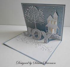 country house,arboscello tree,snowflake border