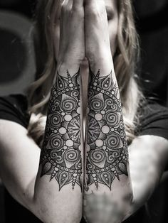 Mandala forearm tattoo - Creatively inked mandala forearm tattoo. Mandalas are popular for conveying balance and symmetry and this tattoo style perfectly captures that illusion.