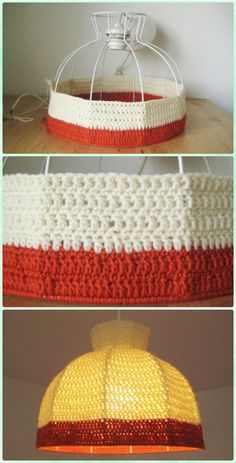 Crochet Super Easy Lamp Shade Free Pattern - Crochet Lamp Shade Free Patterns