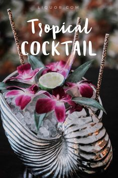 This #vegan winter #tiki #cocktail is tasty and totally worth all the work!