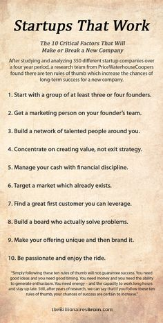 The 10 Critical factors that make or break any company