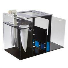 The Aqueon ProFlex Aquarium Sump Filtration System has three different operational modes to best match the filtration needs of the aquarium. Aquarium Sump, Diy Aquarium, Aquarium Design, Marine Aquarium, Aquarium Ideas, Saltwater Tank, Saltwater Aquarium, Freshwater Aquarium