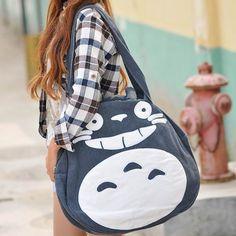 Cute cartoon cat canvas bag circle package