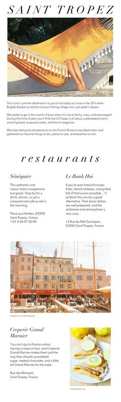 The Journal » CITY GUIDE TO SAINT TROPEZ