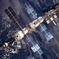 August 20, 2001 – Beautiful views of the International Space Station, observed from the Space Shuttle Discovery after the spacecraft undocked from the orbital outpost.
