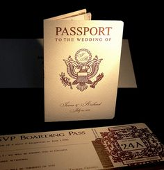 Travel wedding? This is a great idea for invites for overseas destinations.