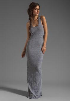 Henley tank maxi dress