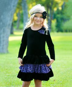 e9fc7c621fb0f Love this Black & Purple Leopard Dress - Toddler & Girls by Dolls and Divas  Couture on