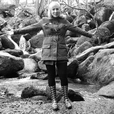 At one with nature on Mother's Day  #latergram #beckyfallswoodlandpark #dartmoornationalpark #bnw #mummy