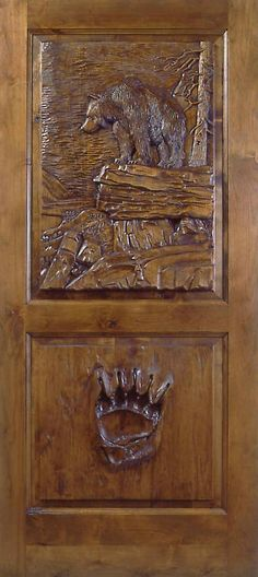 Hand carved one-of-a-kind door.