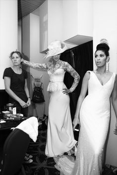 back stage Hillenius Couture