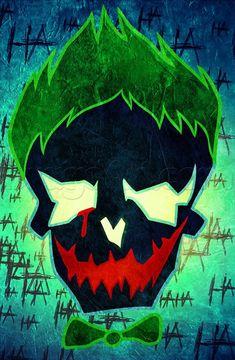draw suicide squad joker skull - Visit to grab an amazing super hero shirt now on sale! Der Joker, Joker Art, Joker Batman, Harey Quinn, Suicide Squad, Joker Drawings, Joker Pics, Joker Images, Whatsapp Wallpaper