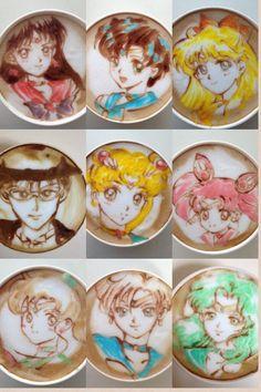 Sailor Moon latte art