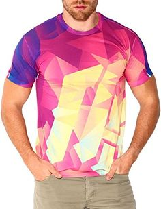 INTO THE AM Shattered All Over Print Rave Tee (Small) d6ae3be1a4d8