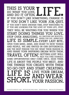 the holstee manifesto - do what you love and do it often