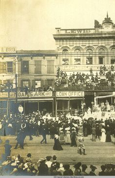 The Telling-Grandon Scrapbook is a 28-page scrapbook/diary containing photographs & ephemera collected by an Evanston, Illinois group during a visit by train to the New Orleans Carnival of 1903.
