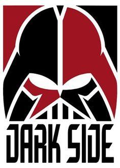 Star Wars Fan Art, Dark Side, Cuadros Star Wars, Images Star Wars, Arte Horror, Star Wars Poster, Geek Art, Cultura Pop, Empire