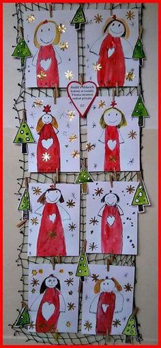 Christmas Angel Crafts, Christmas Art For Kids, Christmas Art Projects, Christmas Activities For Kids, Winter Crafts For Kids, Christmas Love, Winter Christmas, Christmas Crafts, Christmas Decorations