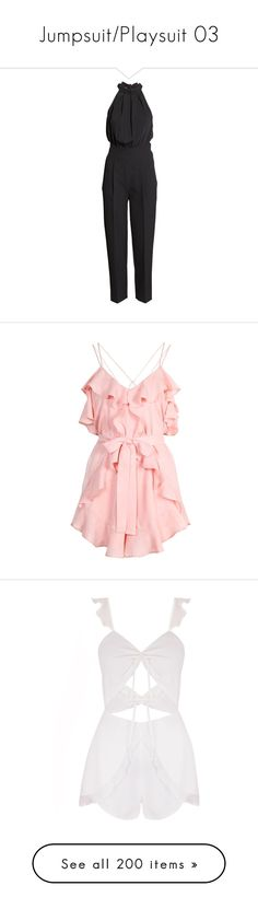 """""""Jumpsuit/Playsuit 03"""" by narryismybae ❤ liked on Polyvore featuring jumpsuits, jumpsuit, h&m, rompers, black, dresses, pleated jumpsuit, playsuit jumpsuit, sleeveless jumpsuit and playsuit romper"""