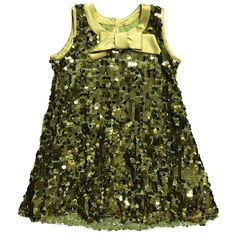 Green Sequin Dress with Bow - Girl | Childrensalon
