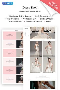 Every bride wants her dress was the best. So the wedding studio has to have an attractive website. Dress Shop Shopify template with unusual left-side menu will allow you to step out of the line of similar to your agencies. #shopifystoredesign #weddingdressesshoponline  #weddingdressesstoredesign  #clothingwebsitedesign #weddingdressesstores https://www.templatemonster.com/shopify-themes/dress-shop-sophisticated-wedding-dress-online-shop-shopify-theme-68113.html