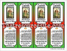 St. Nicholas Printable Saint Trading CardTeach About the REAL Santa Claus! This little printable Saint trading card features St. Nicholas, who eventually became the Bishop of Myra.  He is a...