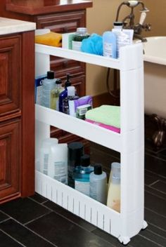 Amazon.com: SLIM SLIDE-OUT STORAGE TOWER - IDEAL IN YOUR KITCHEN, BATH AND LAUNDRY ROOMS!: Home & Kitchen