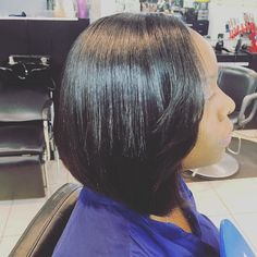 Side view #boblife #neat #bobcut #straighthair #smooth #silky #shes_hair_savvy #hairstylist #lahair #laxhair #labraider #lastylist #lovelyhair #hairstylist #hair #shorthair #straight #braider #la #westchester #ca #cut #cute by shes_hair_savvy