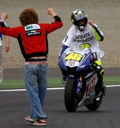 True Friendship - Marco was one of the first to congratulate Vale when he won his 2008 World Championship.
