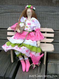 Купить Кукла Тильда интерьерная текстильная - розовый, тильда, тильда кукла, тильда ангел, кукла