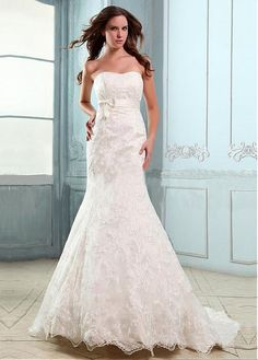 STUNNING SATIN LACE A-LINE SWEETHEART NECKLINE RAISED WAISTLINE WEDDING DRESS FORMAL PROM EVENING PARTY GOWN
