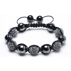Bling Jewelry Hematite Grey Balls Shamballa Inspired Bracelet 12mm - http://www.wonderfulworldofjewelry.com/jewelry/bracelets/strand/bling-jewelry-hematite-grey-balls-shamballa-inspired-bracelet-12mm-com/ - Your First Choice for Jewelry and Jewellery Accessories