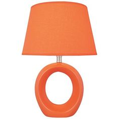 A fab tangerine lamp to brighten up your nightstand.