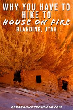On Fire Ruins In Mule Canyon - -Hike To House On Fire Ruins In Mule Canyon - - The hike to House on Fire in mule Canyon along Highway 95 is an easy morning hike to unique ruins on Cedar Mesa near Blanding, Utah. Oh The Places You'll Go, Places To Travel, Places To Visit, Utah Vacation, Utah Adventures, Utah Hikes, Hiking In Utah, Hiking Trails, Zion National Park