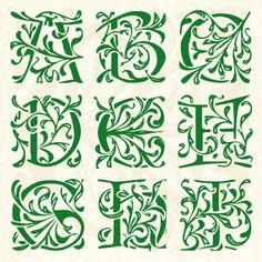 Vintage Initial Fonts | New Font – Woburn Initials